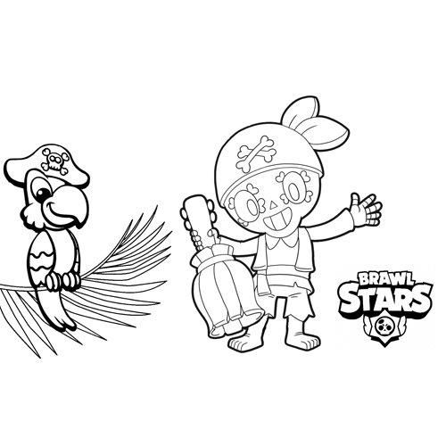 poco pirate brawl stars coloring book