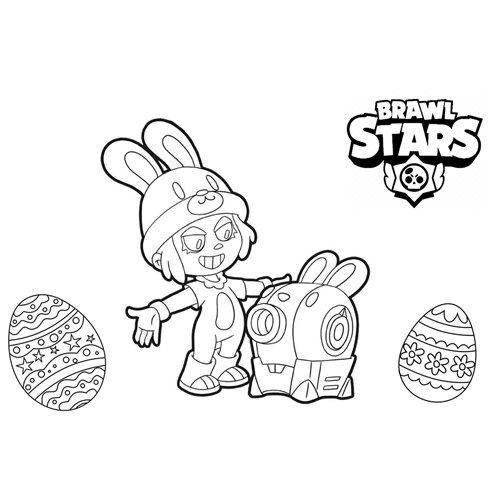 penny bunny brawl stars coloring book