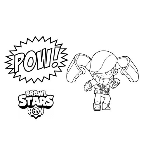 edgar fighter brawl stars coloring book