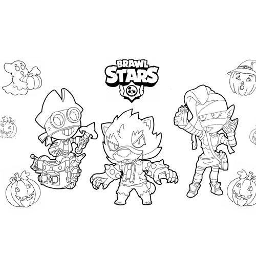 halloween brawl stars coloring book
