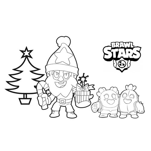 merry christmas brawl stars coloring book