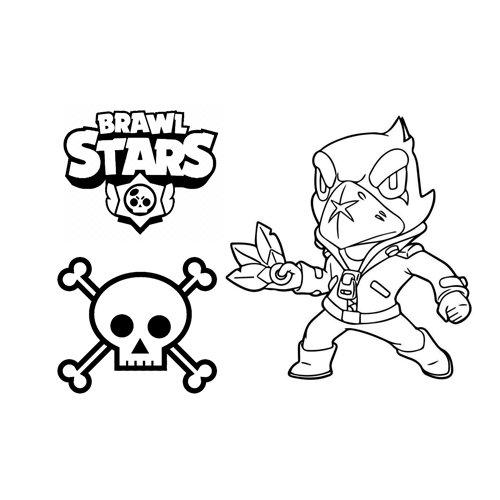 bad crow brawl stars coloring book