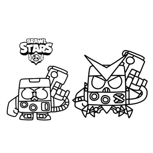 8 bit and virus brawl stars coloring book