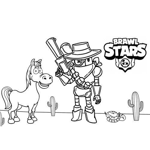 rico in the west brawl stars coloring book