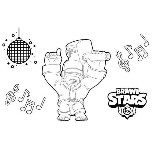 dj frank brawl stars coloring book