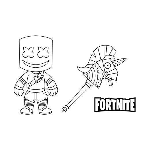 marshmallow heroe fortnite coloring book