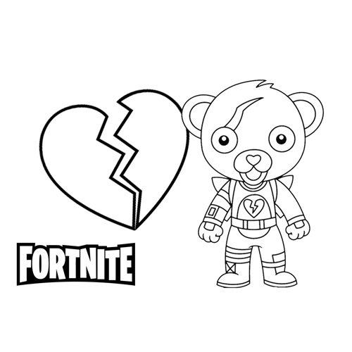 loving bear fortnite coloring book