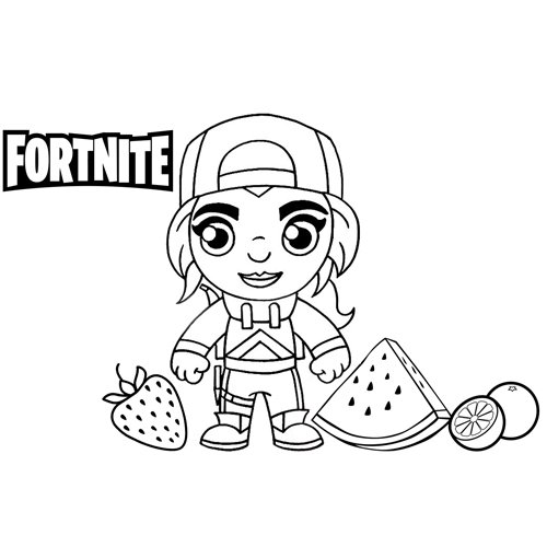 loserfruit fortnite coloring book