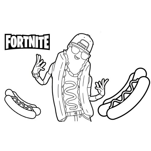 Loving bear fortnite coloring page 🐹 Free Online Coloring ...