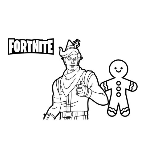minty E.L.F fortnite coloring book