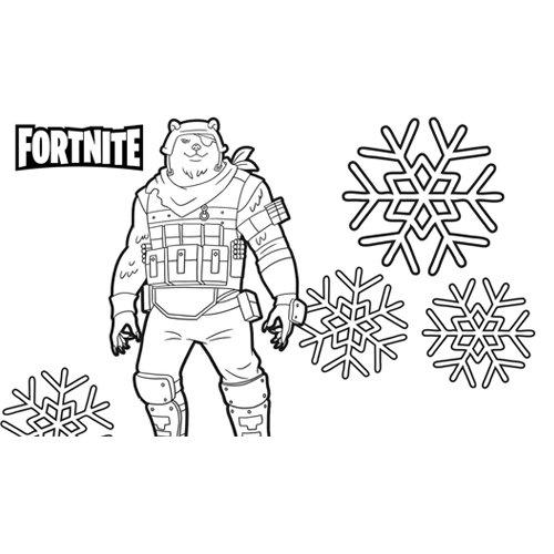 polar patroller fortnite coloring book