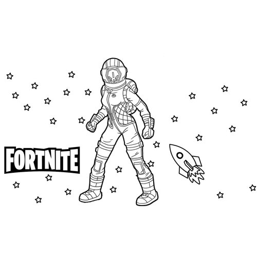 corrupted voyager fortnite coloring book