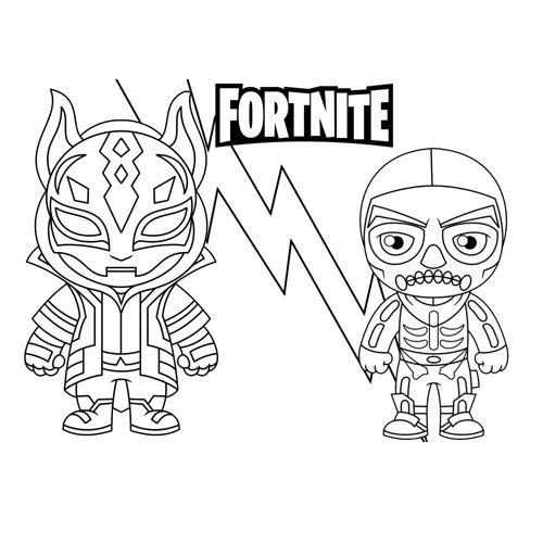 drirt and skull trooper fortnite coloring book