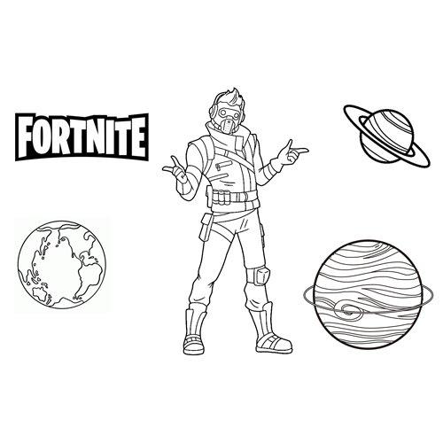 starlord fortnite coloring book