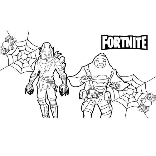 halloween fortnite coloring book