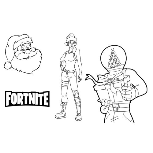 merry christmas fortnite coloing book