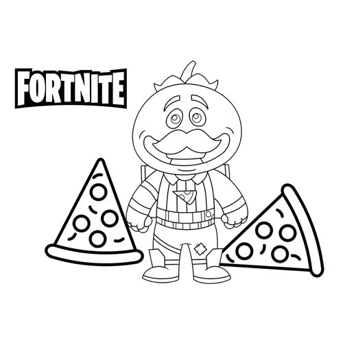 tomato head fortnite coloring book