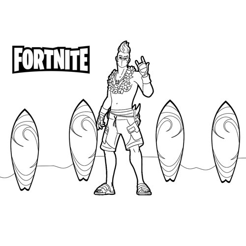 summer drift fortnite coloring book