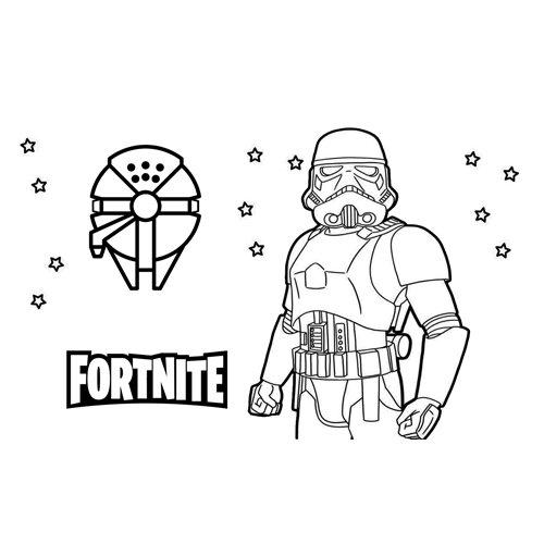 stormtrooper fortnite coloring book