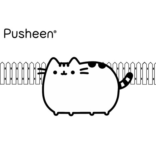 happy pusheen coloring book