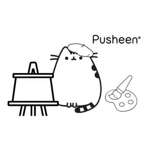 pusheen painter coloring book