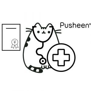 medical pusheen coloring book