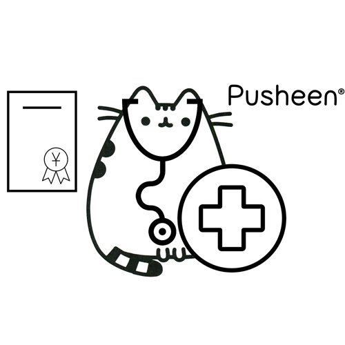 medical pusheen coloring book