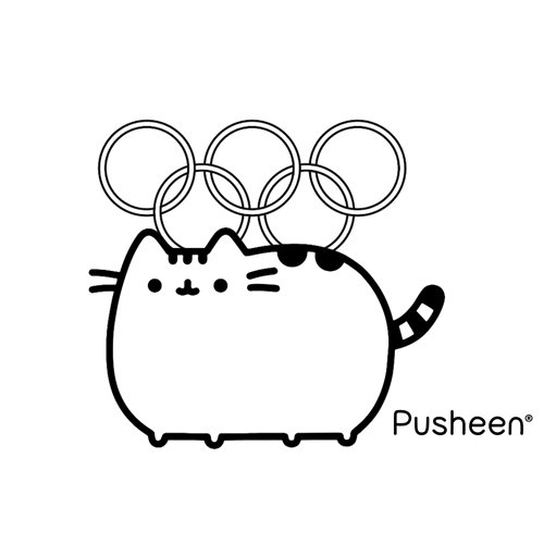 pushen at the olympics coloring book