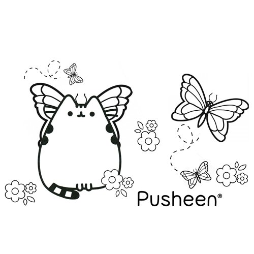 pusheen butterfly coloring book