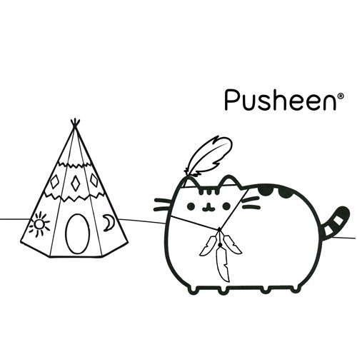 pusheen native american coloring book