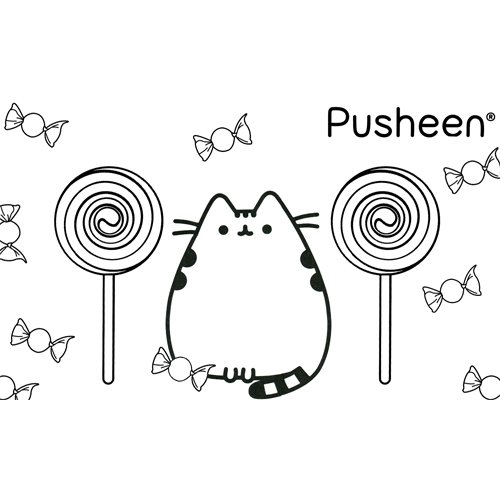 candy pusheen coloring book