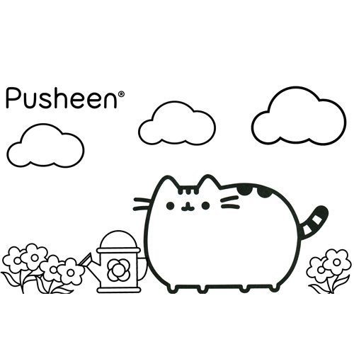 pusheen gardener coloring book