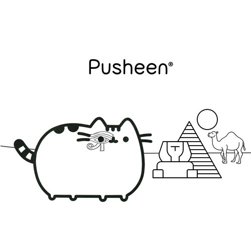 gyptian pusheen coloring book